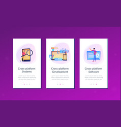 Cross-platform development app interface template vector