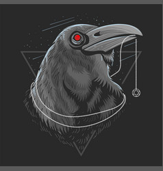 crow head vector image