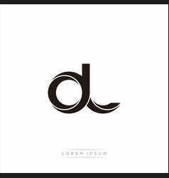 Dl initial letter split lowercase modern monogram vector