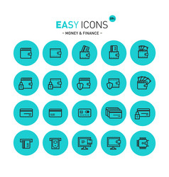 easy icons 09c money vector image