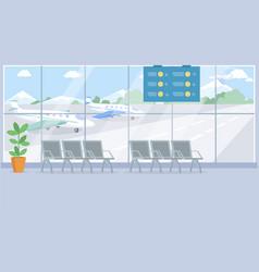 empty airport terminal interior vector image