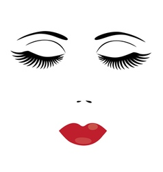 eyes lips vector image