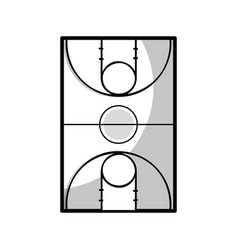 Figure basketball sport field to play competition vector