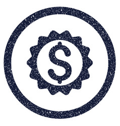 Financial seal rounded grainy icon vector