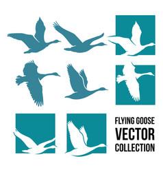Flying goose vector