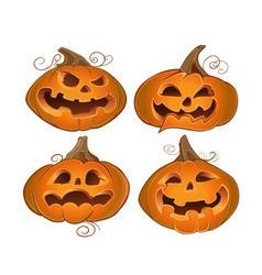 Fun Halloween pumpkins vector image