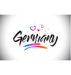 Germany welcome to word text with love hearts and vector
