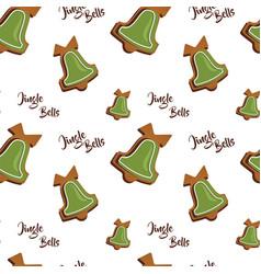 Gingerbread cookies seamless pattern vector
