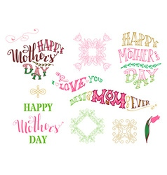 Happy Mothers Day Best Mom ever I love you vector image vector image