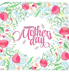 happy mothers day card bright spring concept vector image