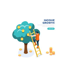 income growth symbol vector image