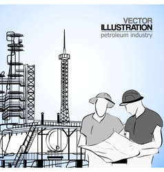 Industrial engineers vector image