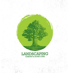 Landscaping garden and home care creative organic vector