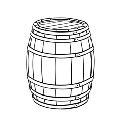 Line sketch of barrel vector image
