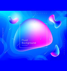 liquid color background design vector image