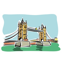 London Tower bridge vector image