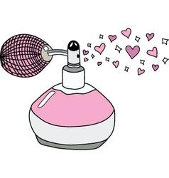 Love perfume vector