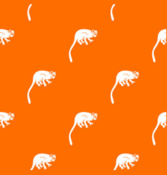 Marmoset monkey pattern seamless vector