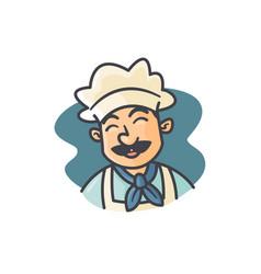 mascot happy chef vector image