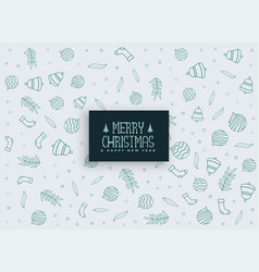 merry christmas elements pattern background vector image