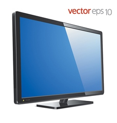 Monitor lcd tv vector image