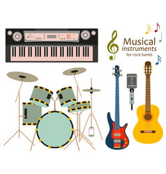 musical instruments for rock bands vector image