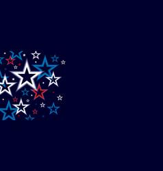 neon star background design vector image