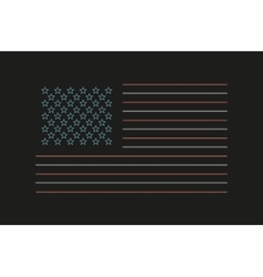 Neon USA flag vector