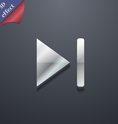 Next track icon symbol 3D style Trendy modern vector