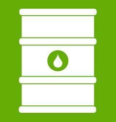oil barrel icon green vector image