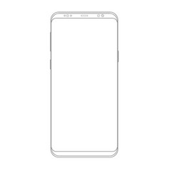 outline drawing smartphone line style design vector image vector image