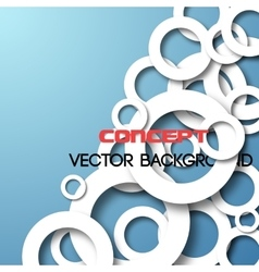 Paper circles background vector image