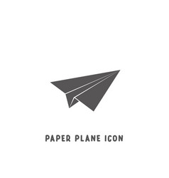 paper plane icon simple flat style vector image