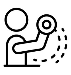 Physical rehabilitation hands icon outline style vector