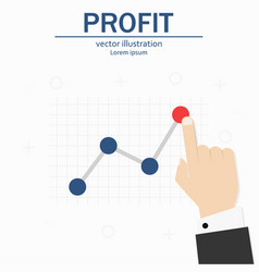 profit concept growing business graph template vector image