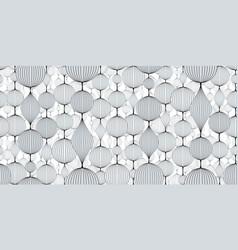 Seamless abstract wallpaper pattern garlands vector