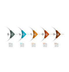 semicircle arrow on horizontal infographics vector image
