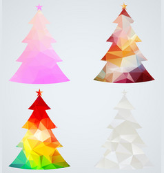 set christmas trees vector image