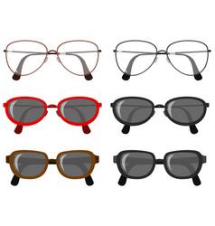 Set eye glasses vector