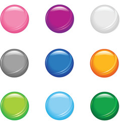 simple shiny buttons vector image