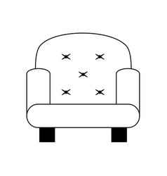 Sofa chair icon image vector
