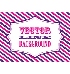 Striped background pink and purple vector