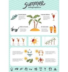 Summer infographics elements vector