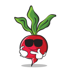 Super cool radish character cartoon collection vector