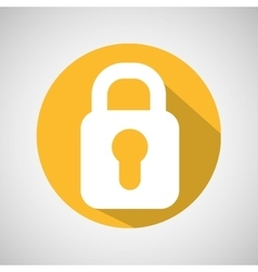 Symbol protection security data icon vector
