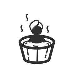 Thin line soaking icon vector