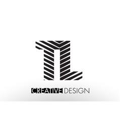 Tl t l lines letter design with creative elegant vector