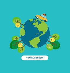 travel around the world concept flat design vector image