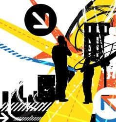 urban communication background vector image