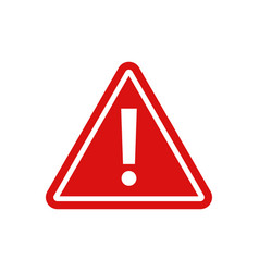 warning - icon warning red sign vector image